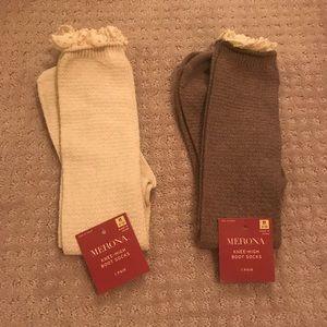 NWT 2 pairs Merona knee high boot socks size 4-10